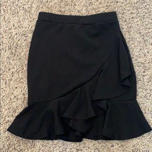 Black Ruffle Mini Skirt Size Medium